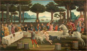 Botticelli, Gemälde zu einer Novelle aus dem Dekameron